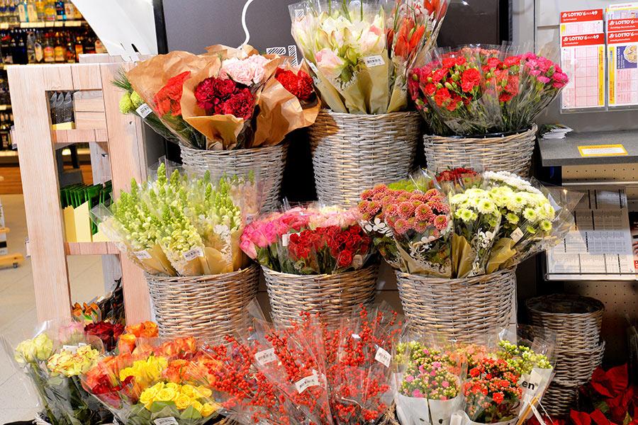 Blumen bei EDEKA Schnalke
